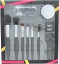 Active Cosmetics Prestige Luxe Brush sada štětců 14ks - 6x štětec + zrcátko + kleštičky na řasy + 5x aplikátor+ ořezávátko